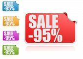 Sale 95% label set