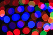 Defocused christmas lights background.