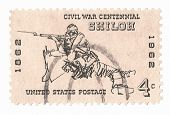 United States Stamp of the Battle of Shiloh