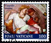 Postage Stamp Vatican 1991 Eleazar With Wife, Michelangelo