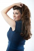 Attractive Hispanic Brunette Fashion Woman