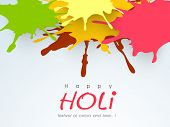 Indian color festival Holi background with colours splash.