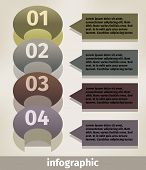 Modern business infographics number options template. Vector