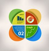 Vector circle business concepts with Graph and Chart