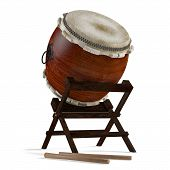 Taiko drums. Traditional Japanese instrument