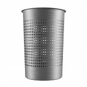 Metal garbage bin. Dustbin isolated