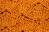 Gold Acrylic Crochet Yarn Fabric Background
