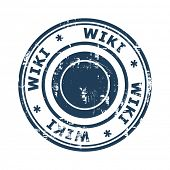 Wiki concept stamp isolated on a white background.