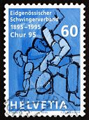 Postage Stamp Switzerland 1995 Wrestler