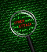 Cyber Attack Revealed In Computer Machine Code Through A Magnifying Glass