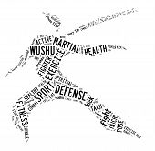 Wushu Word Cloud With Black Wordings