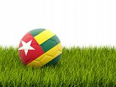 Football With Flag Of Togo