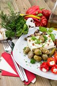 Mixed Antipasto On A Plate