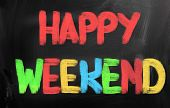 Happy Weekend-Konzept