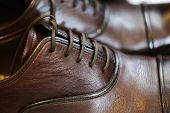 stock photo of soles  - Brown leather men - JPG