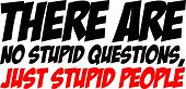Funny Text Quote Design There are no stupid questions