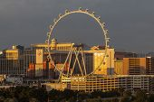 LAS VEGAS, NEVADA - November 38, 2013:  Early morning view of Las Vegas's newest attraction.  The 55
