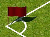 Soccer Corner Marking and Flag.