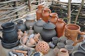 Rustic handmade ceramics.