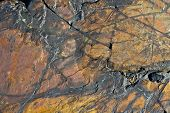 stock photo of chukotka  - Surface wild volcanic stone in the hills of Chukotka - JPG