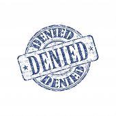 Denied grunge rubber stamp
