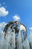 1964 New York World fair Unisphere in flushing Meadows Park, New york