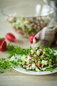 Salad With Radishes And Cucumber