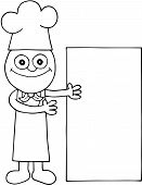 Chef Showing White Board