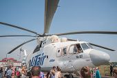 Citizen explore the MI-26T helicopter