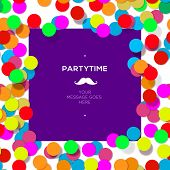 Party time design template with confetti.