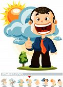 Cloudy. Weather Icon poster