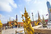 A Kinaree, A Mythology Figure, Is Watching The Temple In The Grand Palace