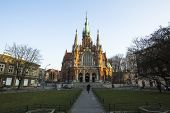 KRAKOW, POLAND - MAR 11, 2014: Church Joseph - a historic Roman Catholic church in south-central part of Krakow. Was built 1905-1909 y and designed by Jana Sas-Zubrzyckiego.