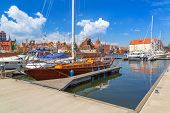 GDANSK, POLAND - 20 MAY: Marina at Motlawa river in old town of Gdansk on 20 May 2014. Gdansk is the