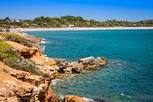 Ibiza Island,beach Ses Salines  In Sant Josep At Balearic Islands