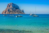 Es Vedra Island Of Ibiza  Cala D Hort In Balearic Islands