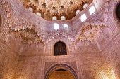 Ceiling Sala De Albencerrajes Arch Alhambra Moorish Wall Designs Granada Andalusia Spain