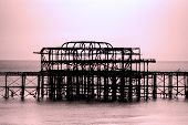 Brighton's West Pier by Twilight