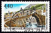 Postage Stamp France 1995 Nyons Bridge, Drome