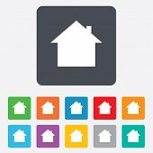 Home sign icon. Main page button. Navigation