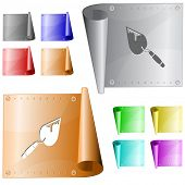 Trowel. Vector metal surface.