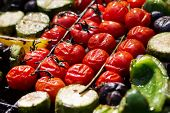 Grilled Vegetables Prepared Outdoors