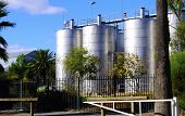 Barossa Valley, South Australia – May 29, 2014: Large Steel Wine Vats At Seppeltsfield Estate Winery