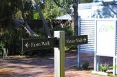 Barossa Valley, South Australia – May 29, 2014: Choice Of Farm Walk Or Nature Walk Signs For Walking