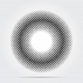 vector abstract background with halftone ring