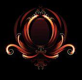 Fiery oval banner