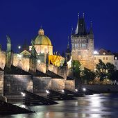 Charles Bridge And Old Town Bridge Tower