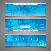 Web Design Elements - Header Design with Squares Pattern