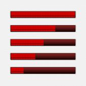 Set of Progress Bars. Vector Loading Bars
