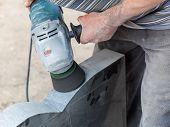 Work With Polished Stone Grinder